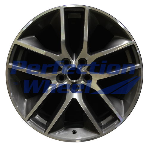 WAN.10039 20x9 Metallic Charcoal Machined Bright
