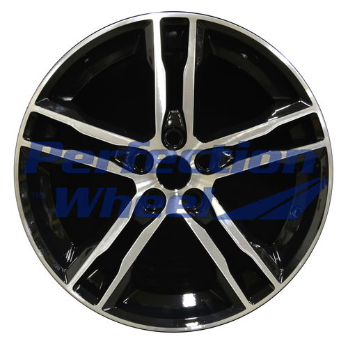 WAO.10015 18x8 Black Machined Bright