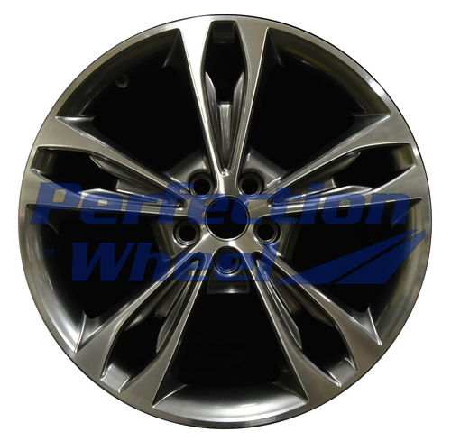 WAO.10124 19x8 Hyper Dark Smoked Silver Bright Machined Bright