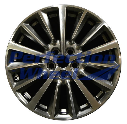 WAO.10127 18x8 Hyper Dark Smoked Silver Bright Machined Bright