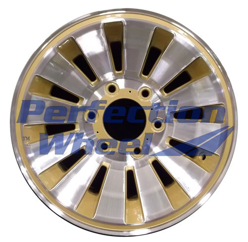WAO.1190 15x7 Sparkle Gold Machined