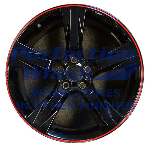 WAO.200177 20x8.5 Black with Red Full Face PIB