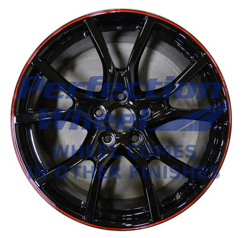WAO.200178 20x8.5 Black with Red Full Face Paint inside barrell