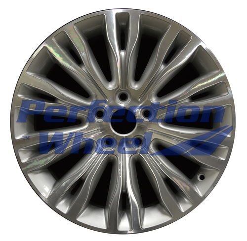 WAO.2392 18x7 Bright Fine Metallic Silver Machined Bright