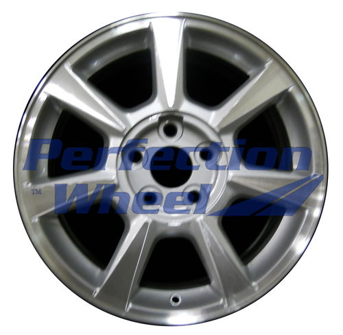 WAO.4623 17x8 Bright sparkle silver Machined Bright