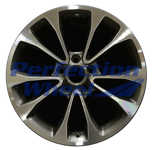 WAO.4734RE 18x9 Dark Sparkle Charcoal Machined Bright