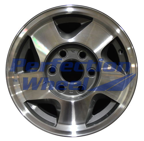 WAO.5015 16x7 Medium Metallic Charcoal Machined