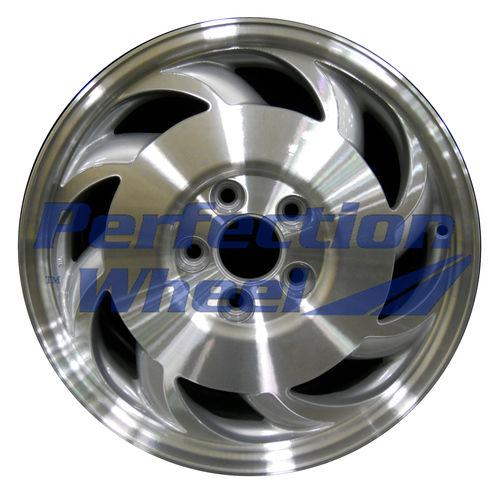 WAO.5023BRF 17x8.5 Bright fine metallic silver Machined