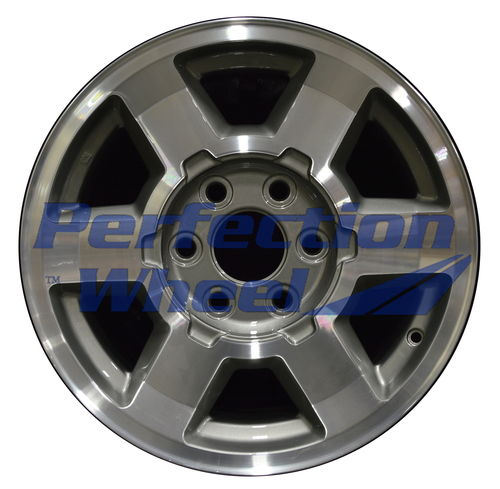 WAO.5193 17x7.5 Fine Metallic Charcoal Machined