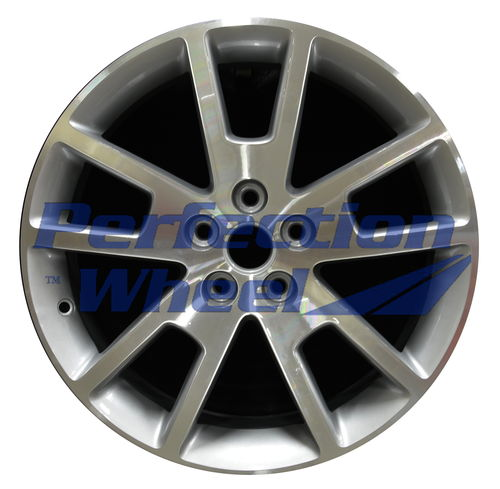 WAO.5361 18x7 Bright fine metallic silver Machined