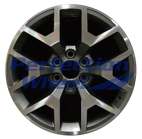 WAO.5658 20x9 Black Base Dark Sparkle Charcoal Machined Bright