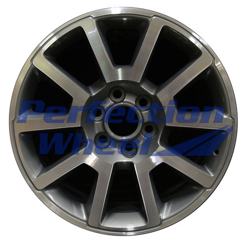 WAO.5699 20x9 Blue Tint Sparkle Charcoal Machined Bright