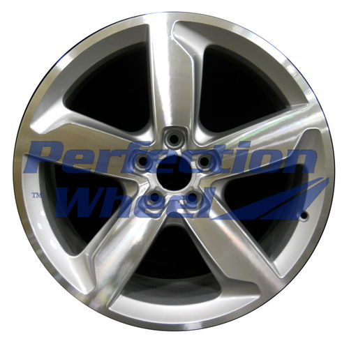 WAO.58847 19x8 Bright Fine Metallic Silver Machined