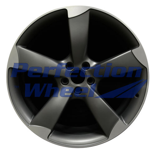 WAO.58898 21x9 Medium Metalic Charcoal Flange Cut Matte Clear