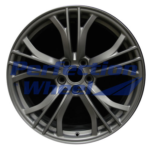 WAO.58907RE 19x11 Light Metallic Charcoal Full Face Matte Clear