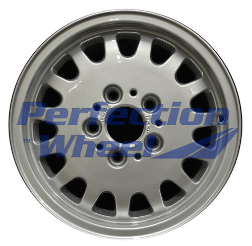 WAO.59182 15x7 Bright Fine Metallic Silver Full Face