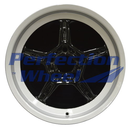 WAO.59191RT 17x8 Silver Flange with Black Face Full Face