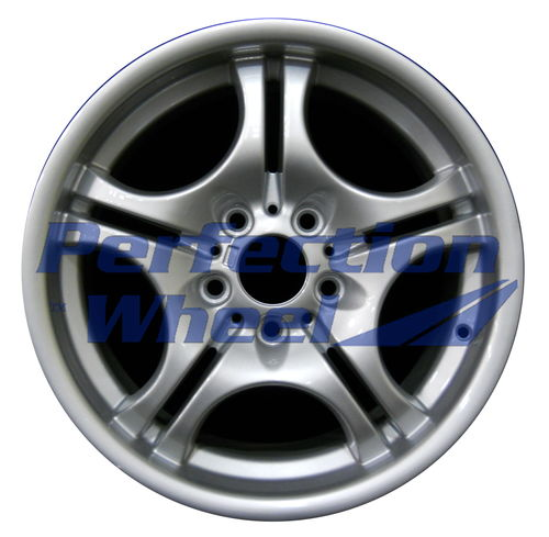 WAO.59345RE 17x8.5 Bright Fine Metallic Silver Full Face