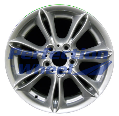 WAO.59416 17x8 Bright Fine Metallic Silver Full Face