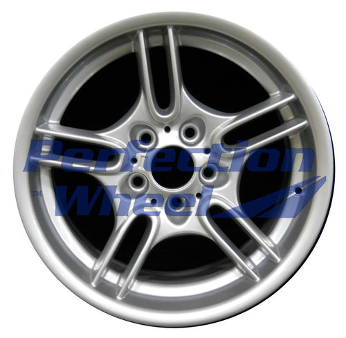 WAO.59496RE 17x9 Bright Fine Metallic Silver Full Face