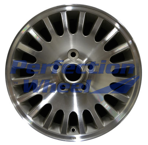 WAO.59685 16x7 Champagne Silver Machine Painted Hub