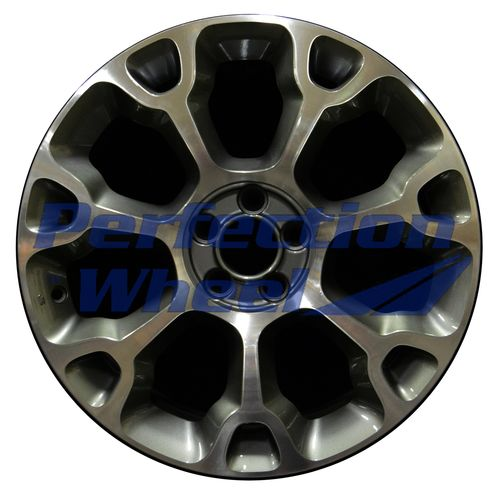 WAO.61671 17x7 Medium Metallic Charcoal Machined