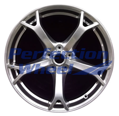 WAO.62588FT 19x9.5 Hyper Bright Smoked Silver Full Face