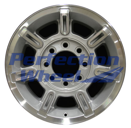 WAO.6300 17x8.5 Bright sparkle silver Machined