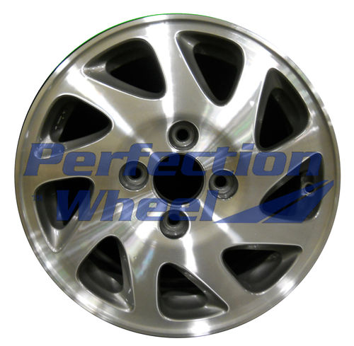 WAO.63743LT 15x6.5 Fine Metallic Charcoal Machined
