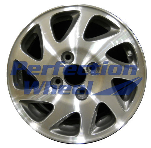 WAO.63743RT 15x6.5 Fine Metallic Charcoal Machined