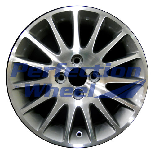 WAO.63874 15x6 Light Blueish Metallic Silver Machined