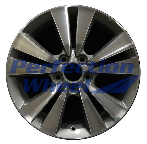 WAO.63938 17x7.5 Light Charcoal Machined