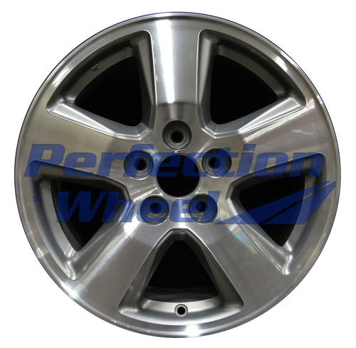 WAO.63992 17x7.5 Medium Metallic Charcoal Machined