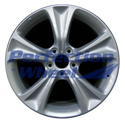 WAO.64016 18x8 Dark Blueish Sparkle Silver Full Face