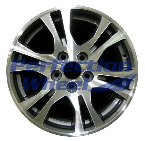 WAO.64019 17x7 Dark Sparkle Charcoal Machined