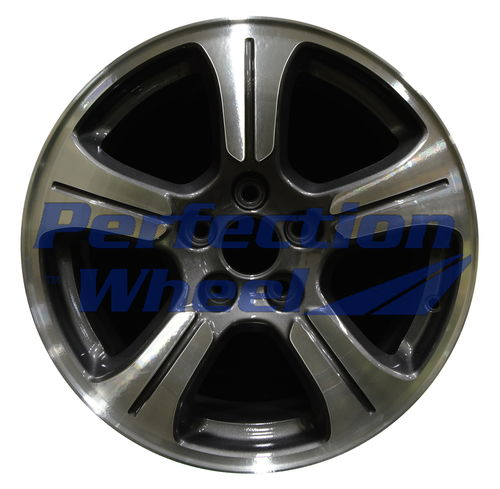 Wao 64037 18x7 5 Metallic Charcoal Machined Wao 64037