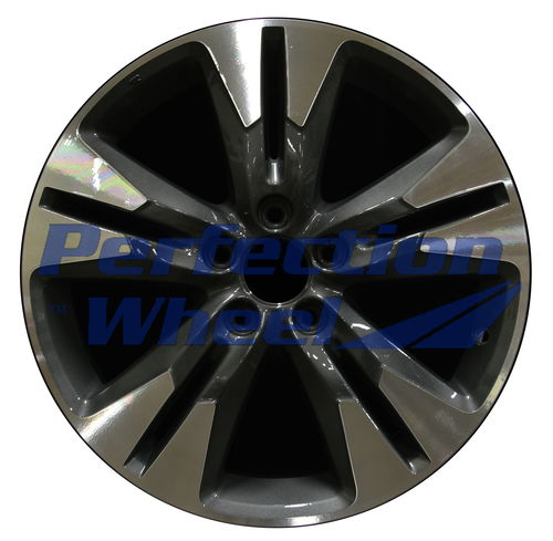 WAO.64052 18x7 Dark Metallic Charcoal Machined