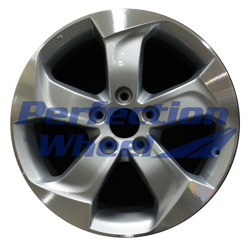 WAO.64075 17x7.5 Grey Sparkle Silver Machined