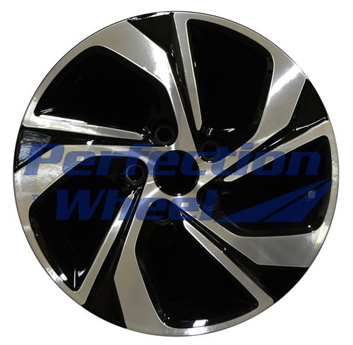 WAO.64078 16x7 Gloss Black Machined Bright
