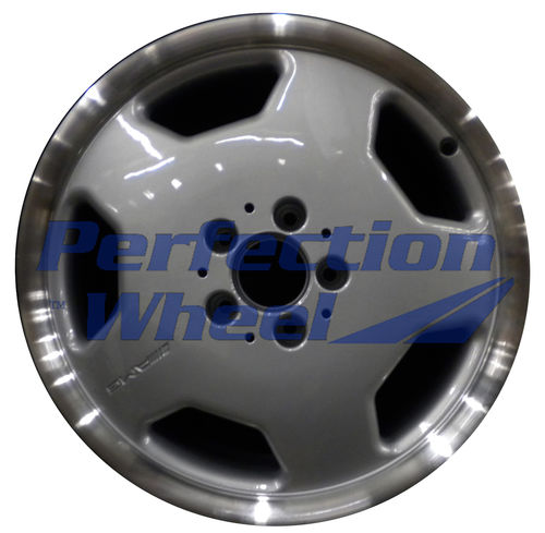 WAO.65161RE 17x8.5 Bright fine metallic silver Flange Cut