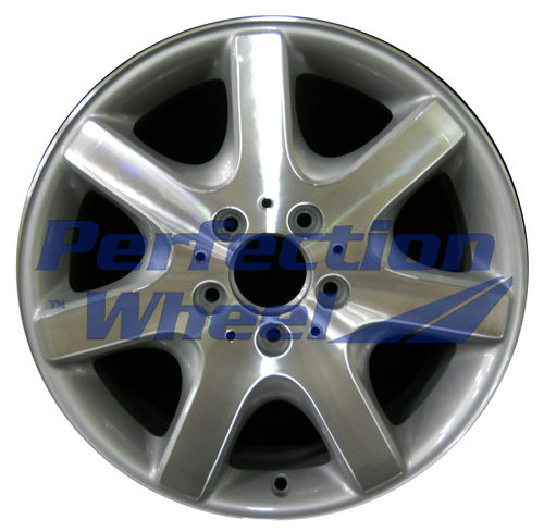 WAO.65174RE 16x8 Bright fine metallic silver Machined