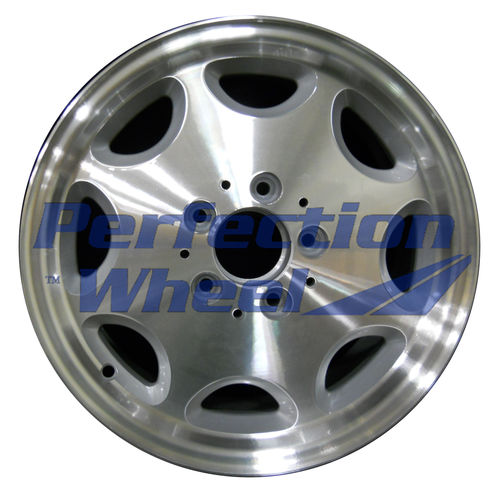 WAO.65190 15x7 Bright fine metallic silver Machined