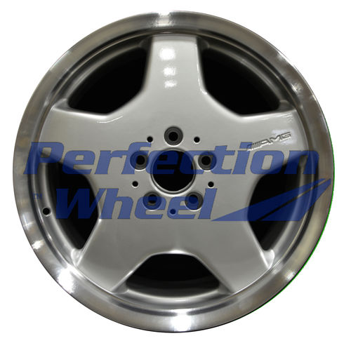 WAO.65207RE 18x9.5 Bright fine metallic silver Flange Cut