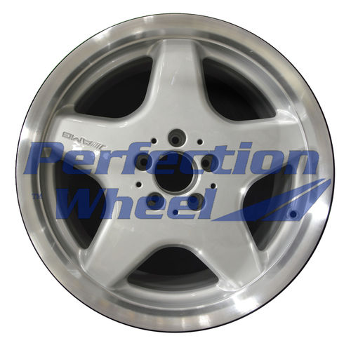 WAO.65229RE 18x9.5 Bright fine metallic silver Flange Cut