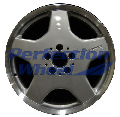 WAO.65232FT 18x8.5 Bright Fine Metallic Silver Flange Cut