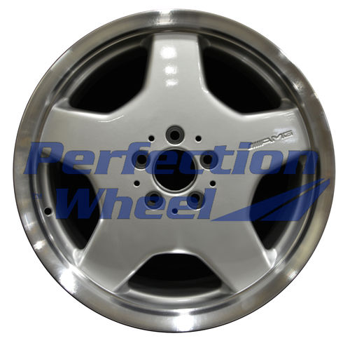 WAO.65233RE 18x9.5 Bright Fine Metallic Silver Flange Cut