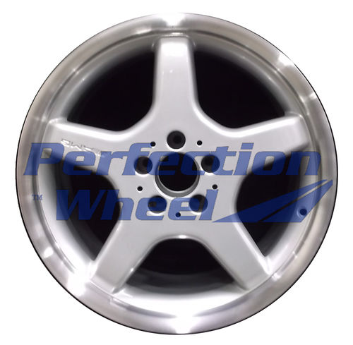 WAO.65280RE 18x9.5 Bright fine metallic silver Flange Cut