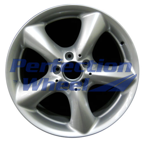 WAO.65289BRE 17x8.5 Bright Fine Metallic Silver Full Face