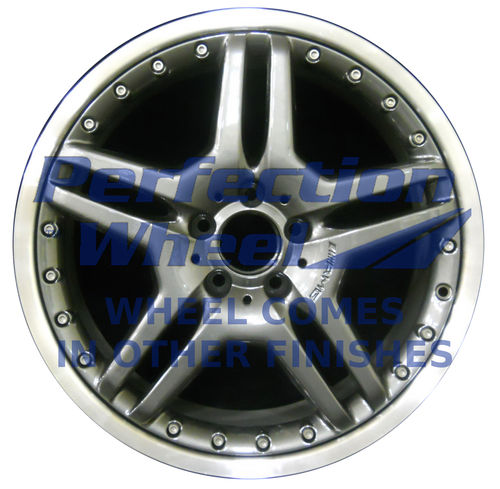 WAO.65348FT 19x8.5 Hyper Dark Smoked Silver Flange Cut Bright