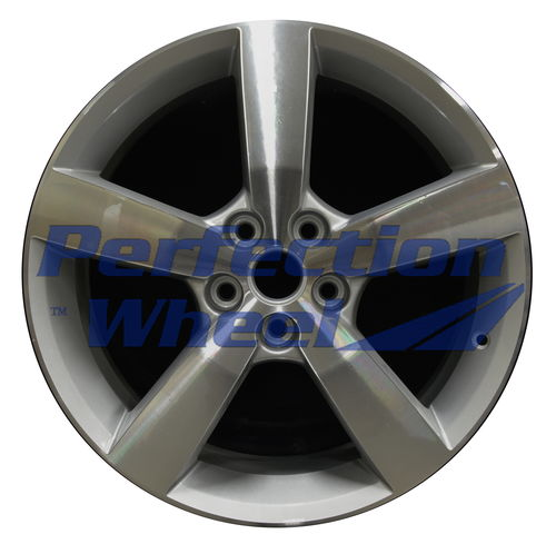 WAO.6597 18x7 Bright fine silver Machined Bright